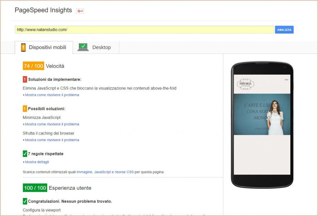 Google PageSpeedInsight